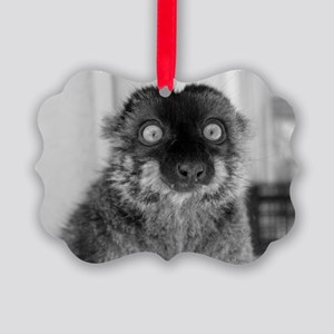 'malbec', Brown Lemur Holiday Picture Ornament