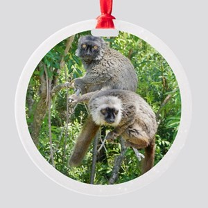 Sanford's Lemur Holiday Round Ornament
