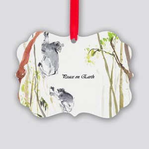 'peace On Earth' Lemur Picture Ornament