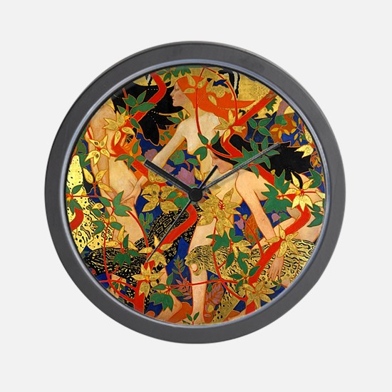 Diana and Her Nymphs Wall Clock