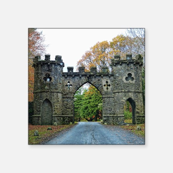 "Cool Ireland castles Square Sticker 3"" x 3"""