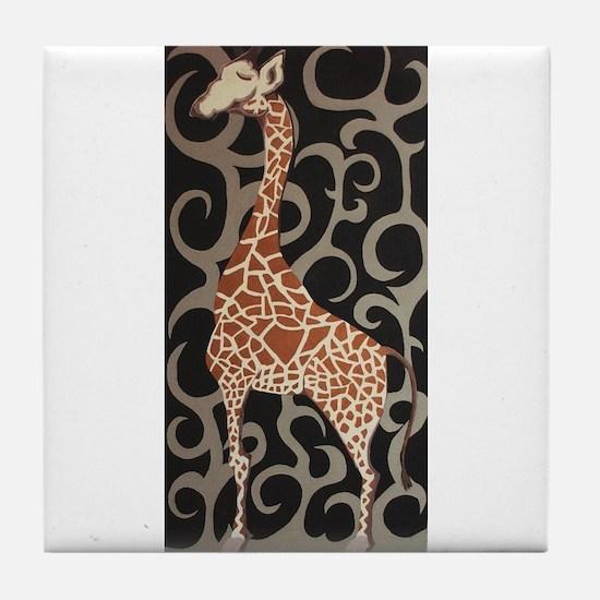 Tpop Giraffe Tile Coaster