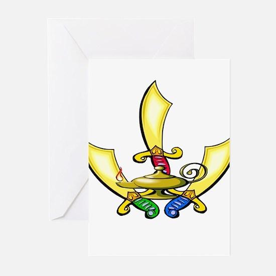Aladdin Swords Greeting Cards