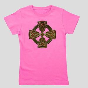 Green Four Triquetra Cross by Bluesax Girl's Tee