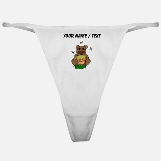 Custom Bear And Honey Classic Thong