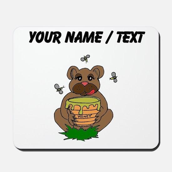 Custom Bear And Honey Mousepad