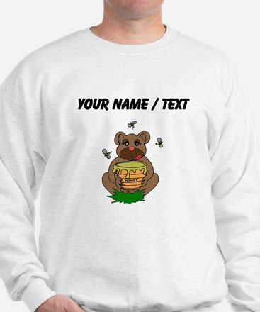 Custom Bear And Honey Sweatshirt