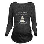 Christmas Wedding Long Sleeve Maternity T-Shirt