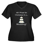 Christmas We Women's Plus Size V-Neck Dark T-Shirt