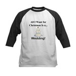 Christmas Wedding Kids Baseball Jersey