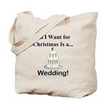 Christmas Wedding Tote Bag