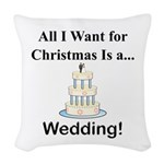Christmas Wedding Woven Throw Pillow