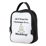 Christmas Wedding Neoprene Lunch Bag
