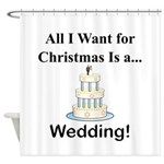 Christmas Wedding Shower Curtain