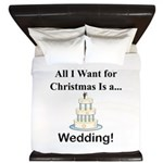 Christmas Wedding King Duvet