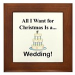 Christmas Wedding Framed Tile