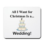 Christmas Wedding Mousepad