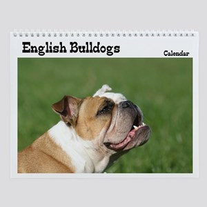 English bulldog Wall Calendar