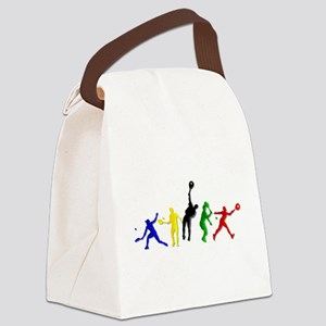 Tennis Players Canvas Lunch Bag