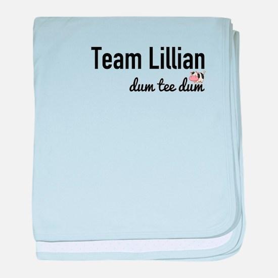 Team Lillian - Dum Tee Dum baby blanket