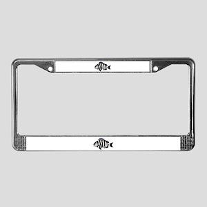 Sheepshead porgy License Plate Frame