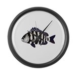 Sheepshead porgy Large Wall Clock