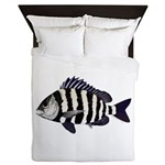 Sheepshead porgy Queen Duvet