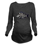 Sheepshead porgy Long Sleeve Maternity T-Shirt