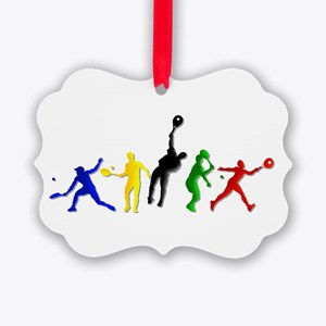 Tennis Players Ornament