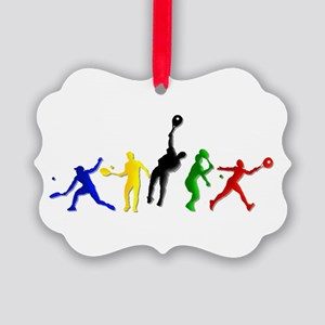 Tennis Players Ornament