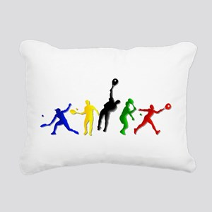 Tennis Players Rectangular Canvas Pillow
