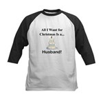 Christmas Husband Kids Baseball Jersey