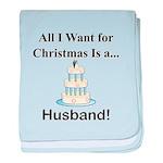 Christmas Husband baby blanket