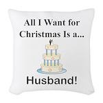 Christmas Husband Woven Throw Pillow