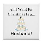 Christmas Husband Tile Coaster