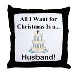 Christmas Husband Throw Pillow