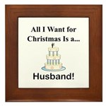 Christmas Husband Framed Tile