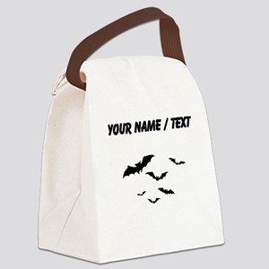 Custom Bats Flying Canvas Lunch Bag