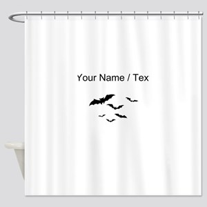 Custom Bats Flying Shower Curtain
