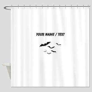 Custom Bats Flying Shower Curtain