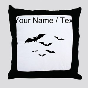 Custom Bats Flying Throw Pillow
