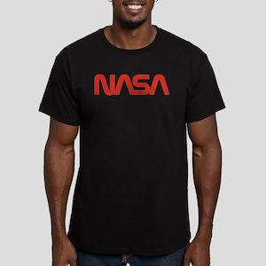 NASA Snake (worm) Men's Fitted T-Shirt (dark)