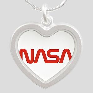 Nasa Snake (worm) Silver Heart Necklace Necklaces