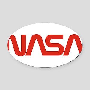 NASA Snake (worm) Oval Car Magnet