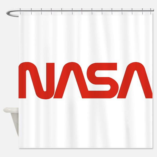 NASA Snake (worm) Shower Curtain