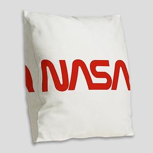 NASA Snake (worm) Burlap Throw Pillow
