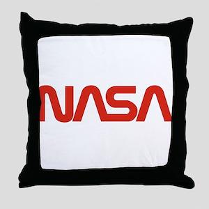 NASA Snake (worm) Throw Pillow