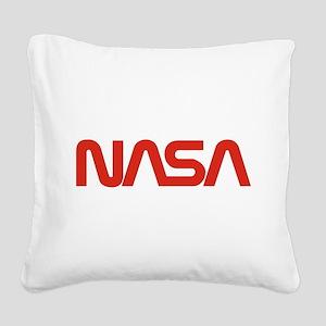 NASA Snake (worm) Square Canvas Pillow