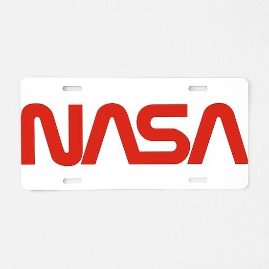 NASA Snake (worm) Aluminum License Plate