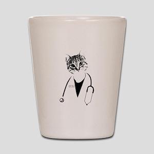 Dr. Cat Shot Glass